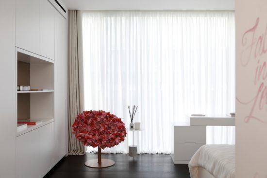 Bespoke curtains London, cream & sheer