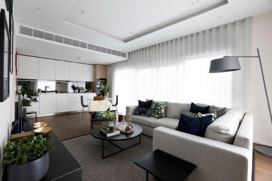 Interior designed flat, London